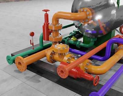 Vaso separador trifasico para petroleo