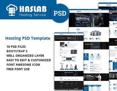 Haslab - Hosting PSD Template