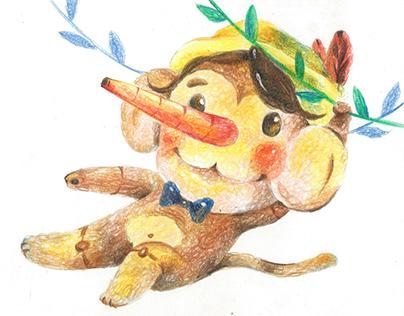 圈圈色鉛筆-小動物們