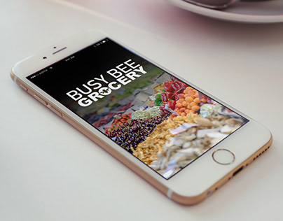 Busy Bee Grocery App Interface