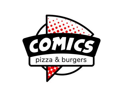 Logo Comics pizza & burgers