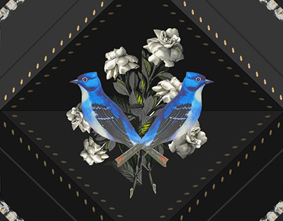 Pattern design Bling Birds 16 Edouard Artus ©2019