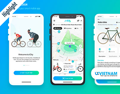 ICity - Mobile App for rent bikes, motors and cars