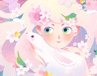 Cherry blossoms fairy