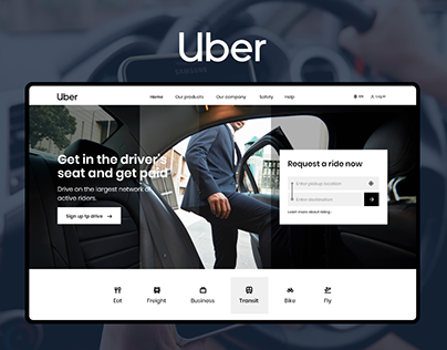 Uber Homepage Redesign