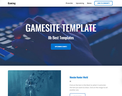 8b Free Website Design Software | Gaming Template!