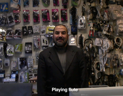 'Rhyme lessons in a phone shop' one minute