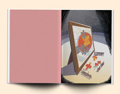 Illustration for print magazine