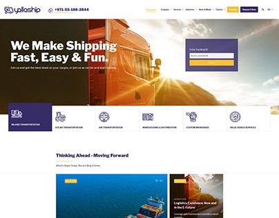 Logistics company website design.