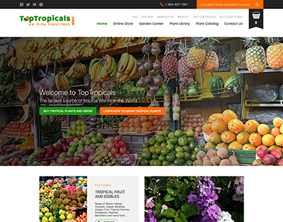 TopTropicals.com Homepage UI Design