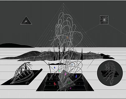 《不知名想象》 系列 数码版画 2016
