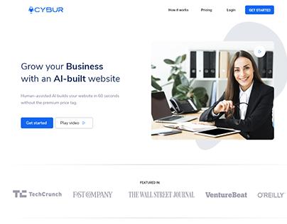 Web Page Builder UX/UI Design