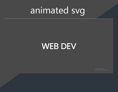 animated SVG using HTML, CSS & JS