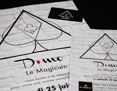 Logotype, affiche, flyer D-mo Le Magicien