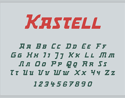 Kastell – a static constructed typeface