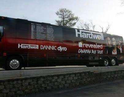Hardwell Presents Revealed Canadian Tour Bus Design