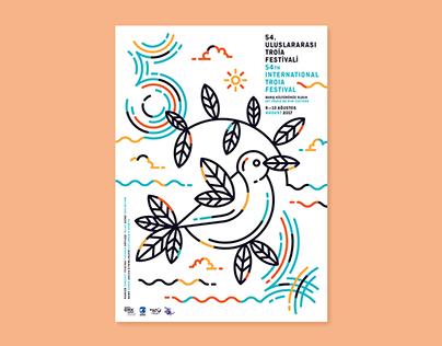 54. Uluslararası Troia Festivali - Afiş Tasarımı