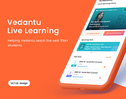Shaping E-learning experience   Vedantu   UI/UX design