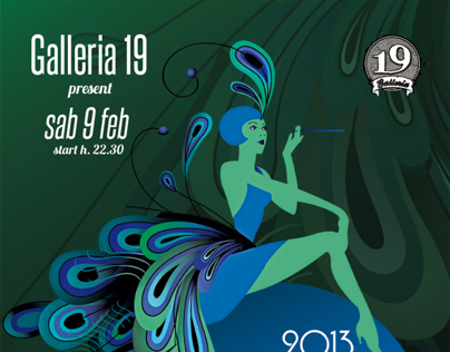 Galleria 19 Carnival Party - Poster