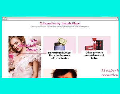 Branded portal - YoDona Beauty Brands Place