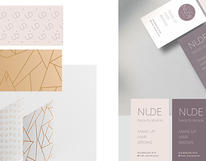 Nude. Branding for beauty space