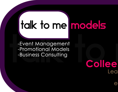 Talk To Me Models Branding / Business Cards