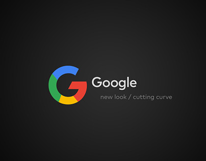 Google new look cutting curve / logo and UI UX