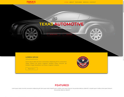 Responsive Website Design for Automotive company