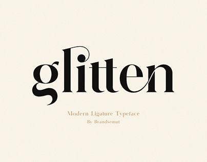 Glitten || Ligature Serif Font [FREE]