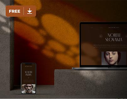 Apple Devices in Dark Mode Mockup Freebie
