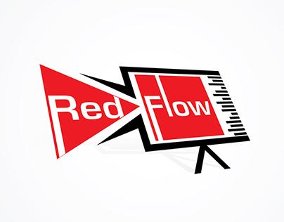 Red Flow Production Logo Design