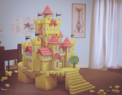 Lego Piggy Bank to Castle Stop-Motion