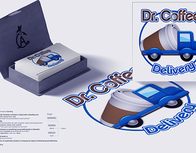 Dr Coffee Brand Identity, Cup & Delivery Vehicle Design