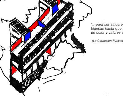 Refuncionalización de casa pareada, Le Corbusier.