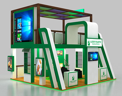 Trade Show Booth 3D Design • Double Storey 6 x 6