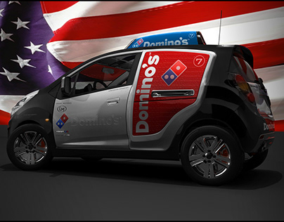 Domino's Pizza car delivery SparkUS by Vasilatos Ianis