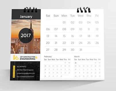 Construction Desk Calendar 2018