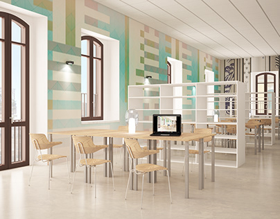 LIBRARY IN CHIETI, ITALY