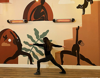 Yoga Room Mural - Uxbridge, London