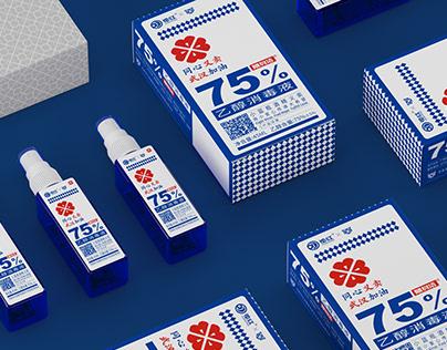 花红药业x潘虎|小蓝瓶乙醇消毒液 义卖款