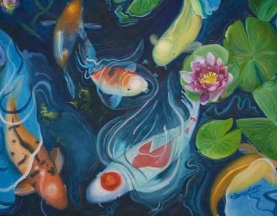 Koi Fish Painting Series
