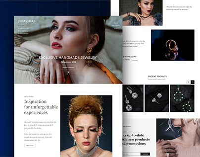 Jewelry store web page design concept