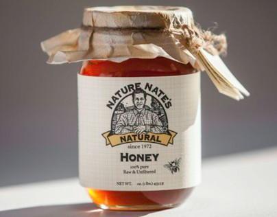 Nature Nate's Honey Package Rebranding