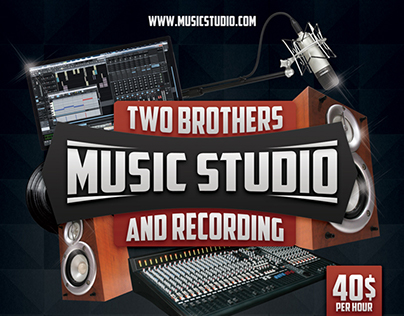Music Studio 3 Flyer/Poster