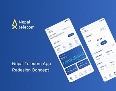 Nepal Telecom App UI redesign