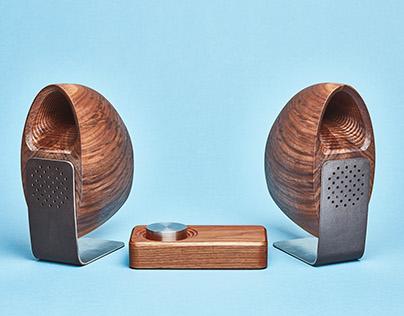 The Grovemade Wood Speakers