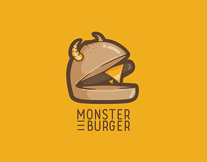 Monster Burger identity -