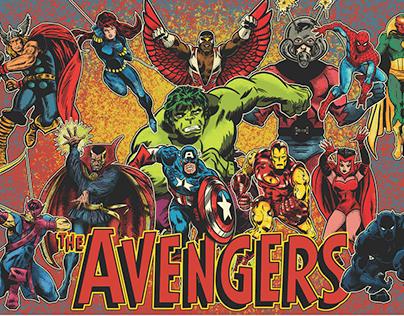 Vintage Avengers Poster