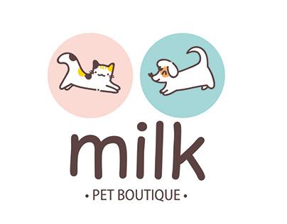 Identidade Visual para Milk Pet Boutique