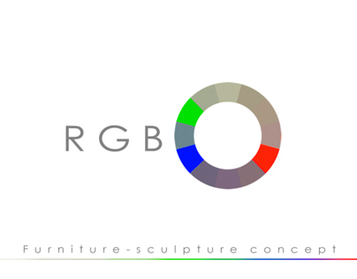 RGB furniture - sculpture concept